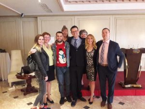 With Nora Fazliu, Brit Johanne Drageset, Tineke Hakvoort, Dave Brisnehan, dave brisnehan, alison sue adams, Jen Kazmierczak, jen kazmierczak and Espen Haugen in Pristina.